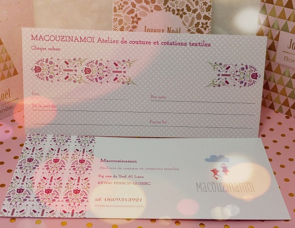 creation de cheque cadeau