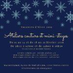 Ateliers couture vacances de février 2019